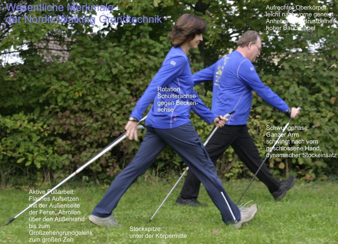 Nordic Walking - Schaubild zum Bewegungsablauf