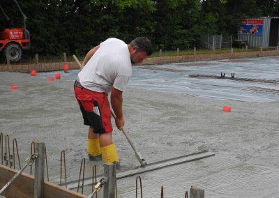 Bodenplatte in Arbeit