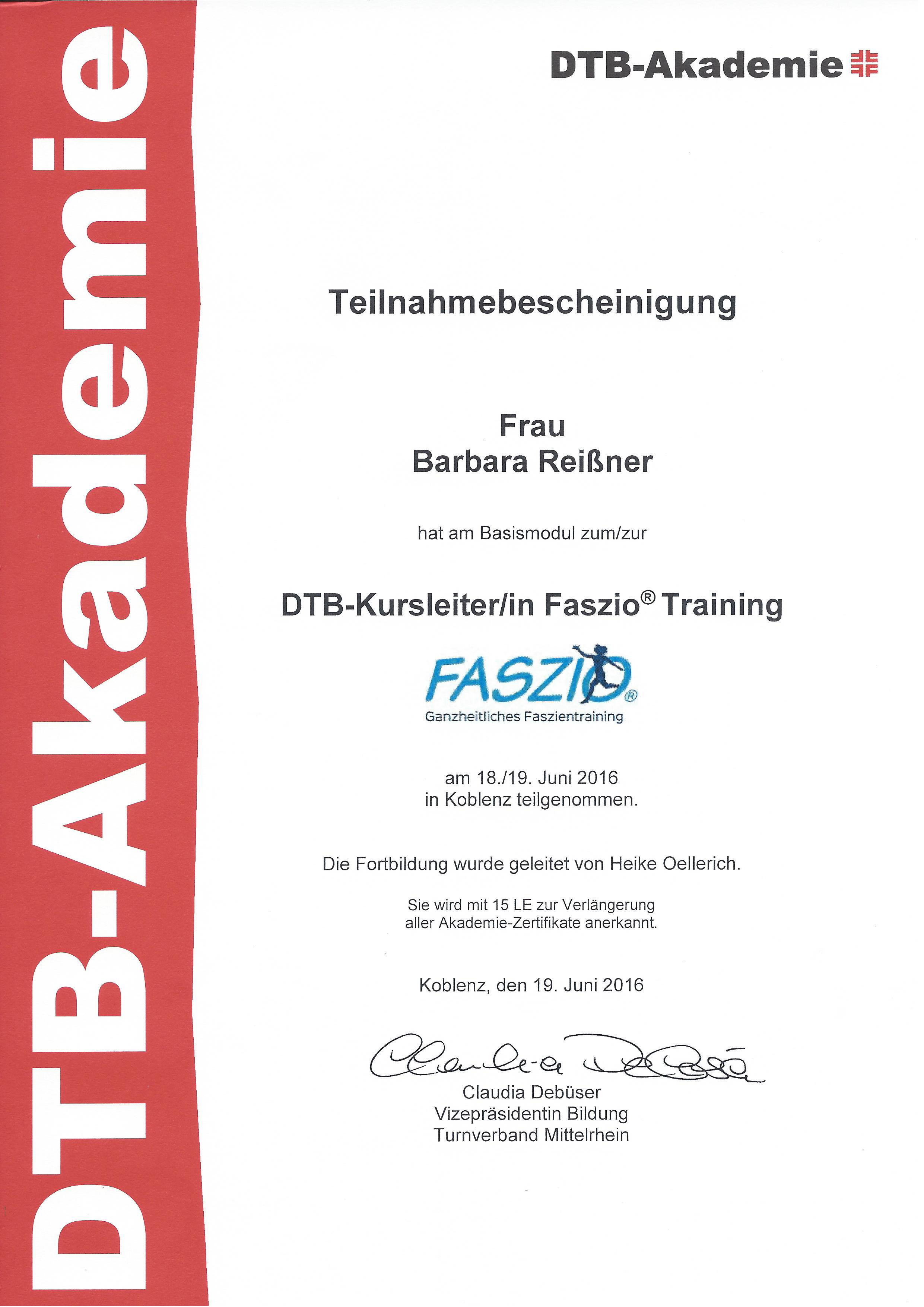 Faszio-Basismodul-Zertifikat